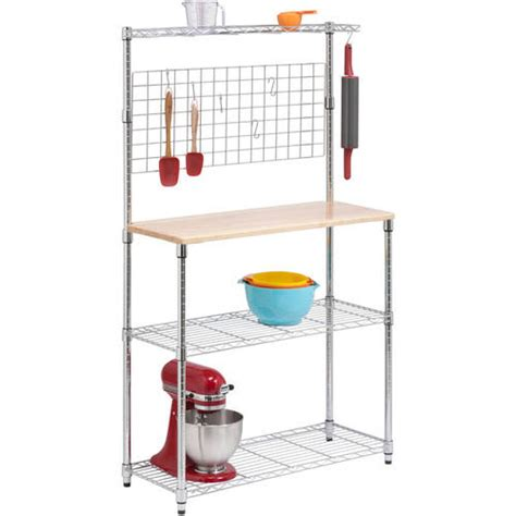 Honey Can Do Bakers Rack by Honey Can Do Chrome 3 Tier Baker S Rack Walmart