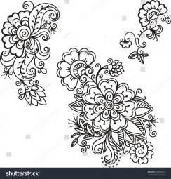 henna design templates henna flower template mehndi stock vector