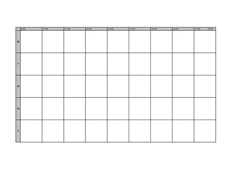 timetable school template pin blank timetable on