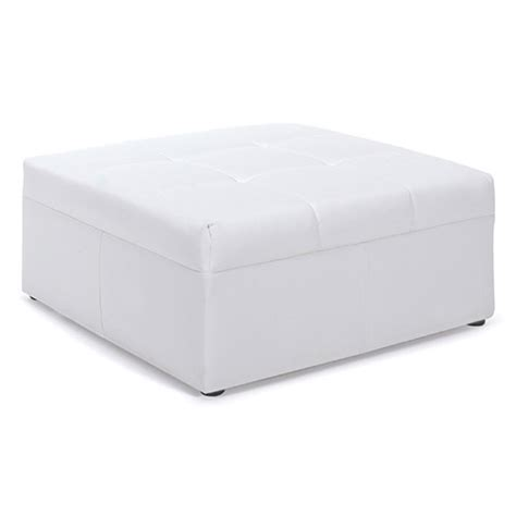 square white ottoman rent leather chairs for events rent leather sofas for events