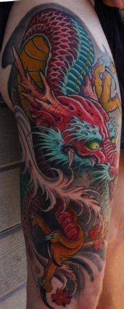 dragon tattoo upper leg rainbow dragon upper leg tat dragon tattoos