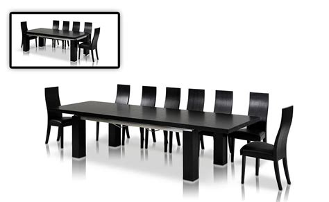 modrest maxi modern black oak dining table modern dining dining