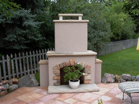 outdoor stucco fireplaces fireplaces