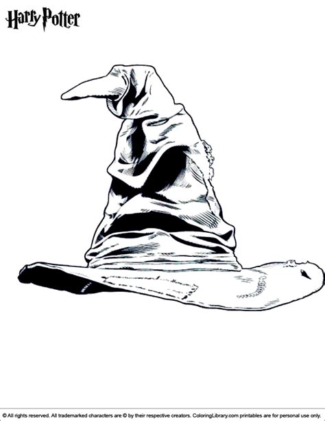 harry potter sorting hat coloring page harry potter sorting hat coloring page coloring pages