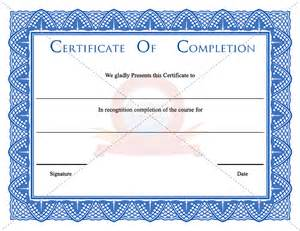 certificate of completion templates free printable best photos of certificate of completion template