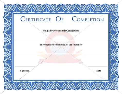 free printable certificate of completion template best photos of certificate of completion template