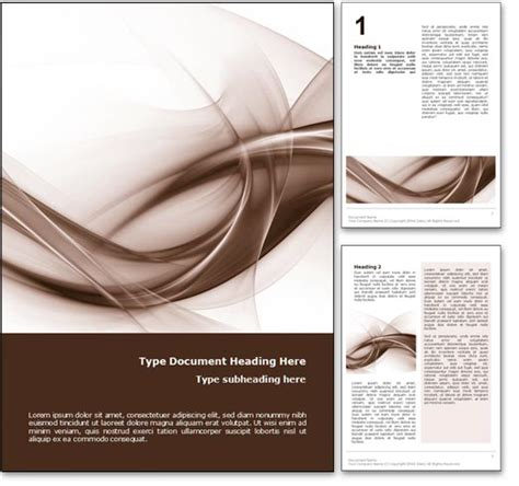 free word layout design royalty free abstract curves microsoft word template in orange