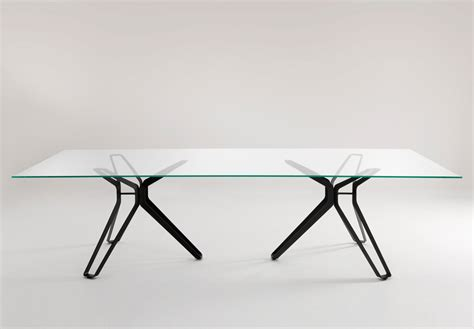 Pod Dining Table Lema 3 Pod Glass Dining Table Lema Furniture At Go Modern