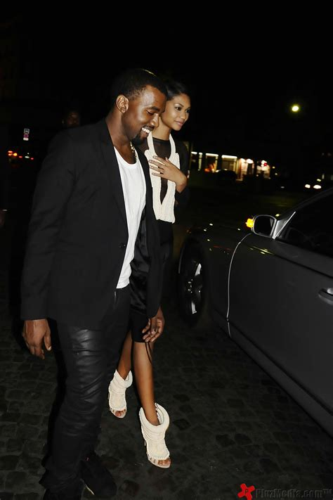 Fashion Week Kayne 2 by Kanye West And His New Model Iman Chanel At