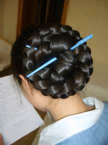 hair plait with chopstick hairstyle made with chopsticks trendy mods com