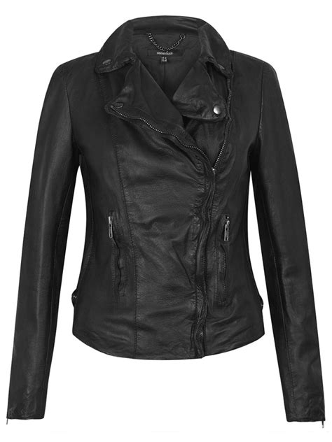 leather biker jacket monteria black leather biker jacket