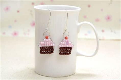 cupcake pony bead pattern seed bead cupcake earrings family crafts