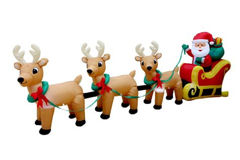Bzb Goods Christmas Inflatable Santa Claus On Sleigh With