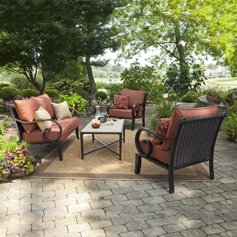 allen roth patio furniture allen roth pardini 4 outdoor conversation set
