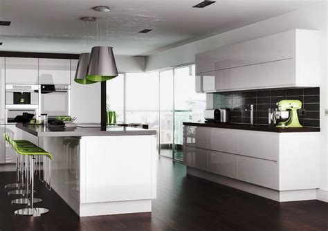 White Shiny Kitchen Cabinets Glossy White Kitchen Cabinets Tjihome