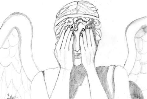 weeping angels coloring page weeping angel by heyh0letsg0 on deviantart
