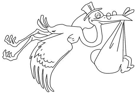 imagenes para colorear baby shower dessins de cigogne 224 colorier