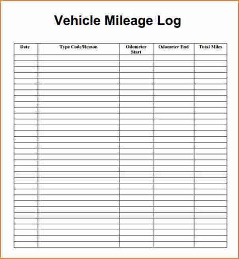 receipt log pdf template 4 mileage log pdf printable receipt