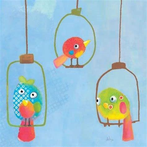 toile chambre enfant tableau enfant carr 233 3 oiseaux lilipinso tableaux