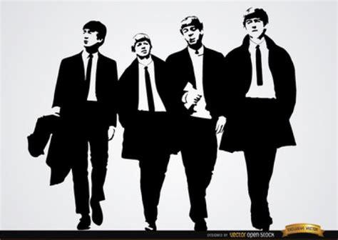imagenes en blanco y negro de los beatles the beatles band cover in black and white vector free