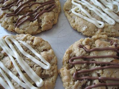 oatmeal butterscotch cookies with chocolate drizzle | a