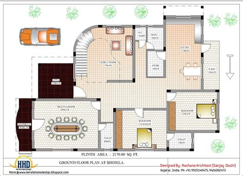 House Planning luxury indian home design with house plan 4200 sq ft