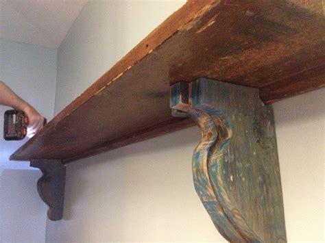 Diy Wood Corbels Easy Diy Shelf Brackets Wood Shelf Crafted From