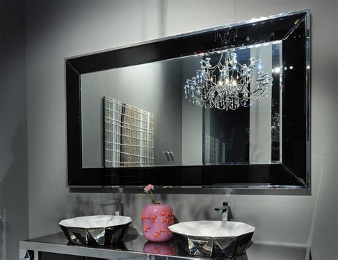 stainless steel bathroom mirror visionnaire portorose hign end italian mirror in stainless