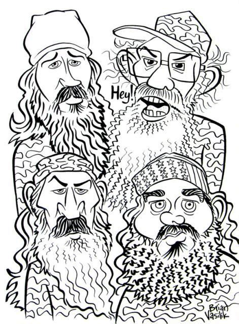 coloring pages of duck dynasty pin by crystal bailey on coloring pages pinterest