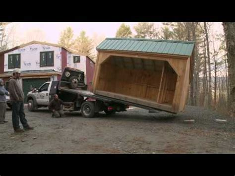 How To Move A Shed Onto A Trailer by How To Move A Shed Delivery