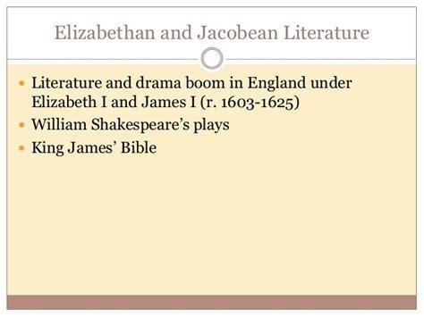 themes of jacobean literature ap euro ch 15