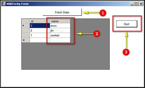javascript tutorial venkat c gridview sorting c controls datagridview sorting