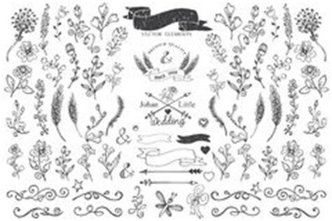 doodle do royal palm grape vine corner ornament royalty free stock photo