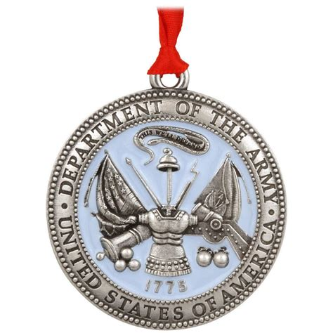 us army pewter christmas ornament
