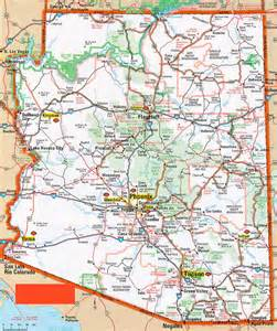 map of arizona for hognews state pages arizona