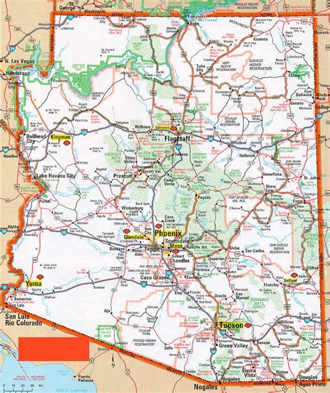 maps of arizona road map of arizona jorgeroblesforcongress
