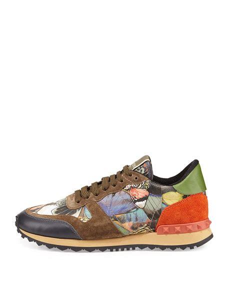 butterfly sneakers valentino garavani butterfly camouflage rockstud sneaker
