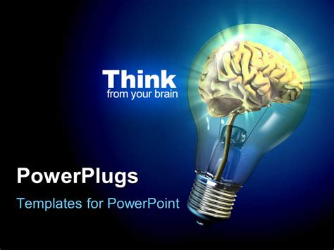 electrical themes for ppt free download powerpoint template human brain inside a glowing