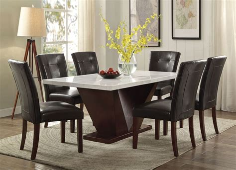 majela modern marble top dining table set