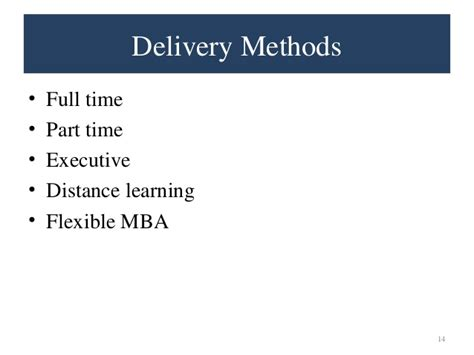 Cost Of Part Time Mba At by Why Mba Presentation