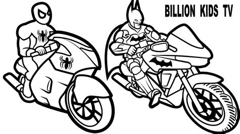 batman motorcycle coloring page spiderman car coloring pages thekindproject