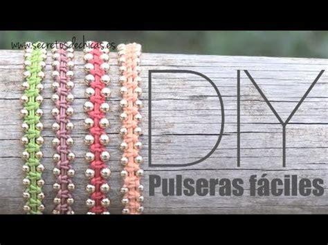 diy: pulseras con nudos planos y bolas youtube