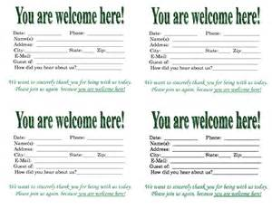 Church Welcome Card Template by Church Quotes For Welcoming Guests Quotesgram