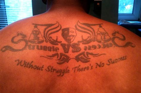 success tattoo without struggle there s no success design