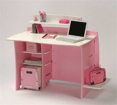 Under Desk Shelf And Office Appearance Pink Desk