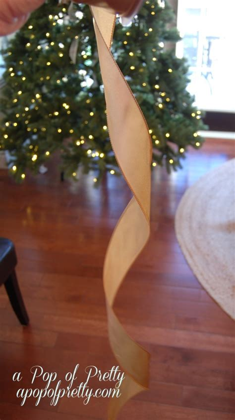 how to add ribbon to christmas tree decorating tip how to add ribbon to your tree a pop of pretty canadian home