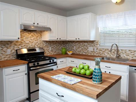 painting kitchen countertops pictures options ideas hgtv - Painting Butcher Block Countertops
