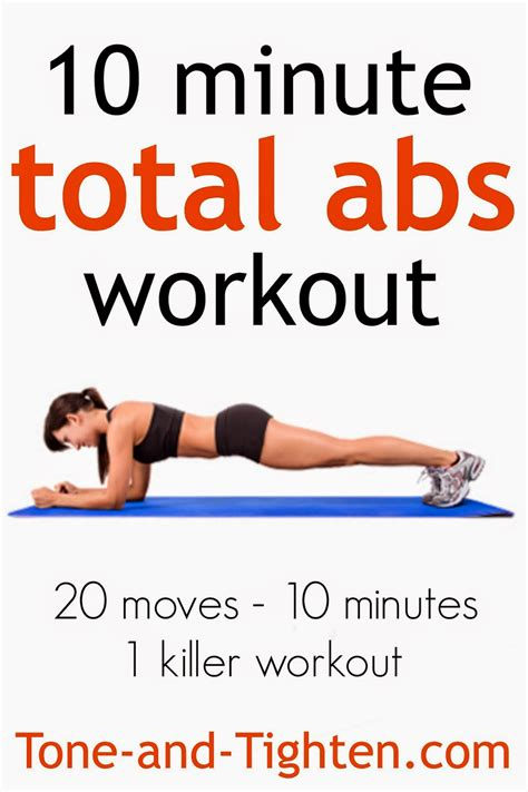10 minute total abs workout 20 in only 10 minutes