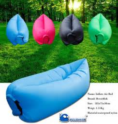 Inflatable Camping Sofa Bed 2016 Lamzac Instantly Inflatable Hangout Sleeping Bed