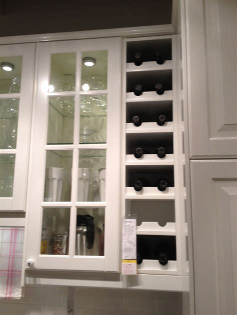 rack kitchen cabinet built in wine rack from ikea new house ideas